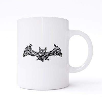 bat collage mug
