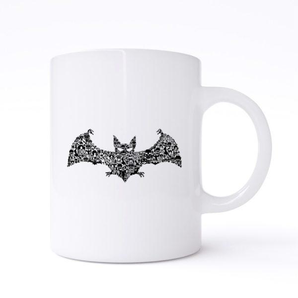 bat collage mug