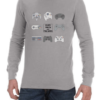 escape reality mens grey ls shirt