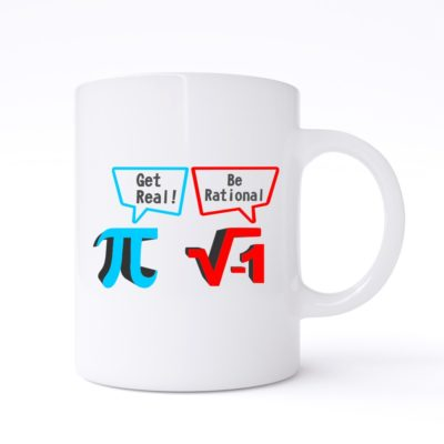 get real be rational mug