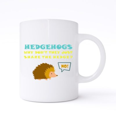 hedgehogs mug