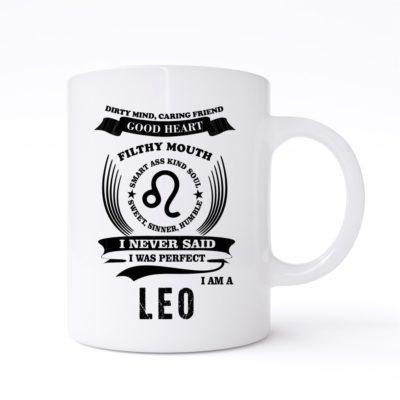 leo zodiac sign mug