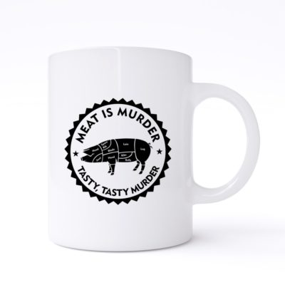 meat is murder mug