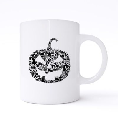 pumpkin collage mug