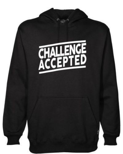 Challenge Accepted Black Hoodie