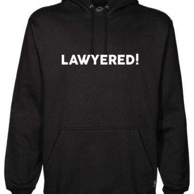 Lawyered Black Hoodie
