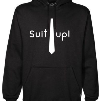 Suit Up Black Hoodie