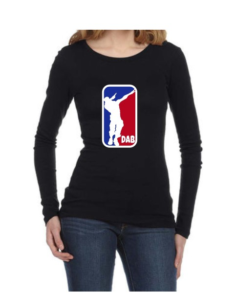 fortnite dab ladies black ls shirt