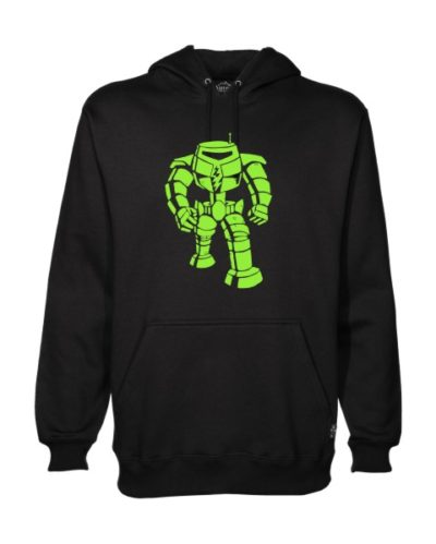 man-bot on black hoodie