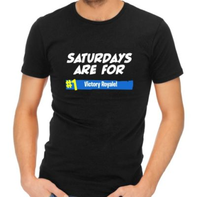 saturdays are for victory royale mens black shirt