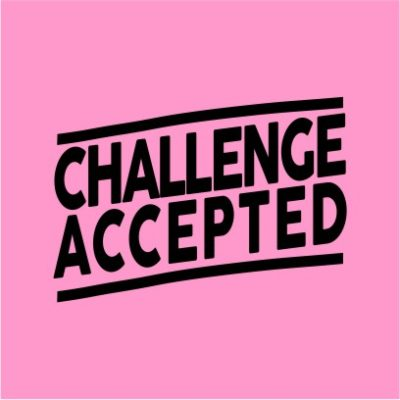 Challenge Accepted Light Pink