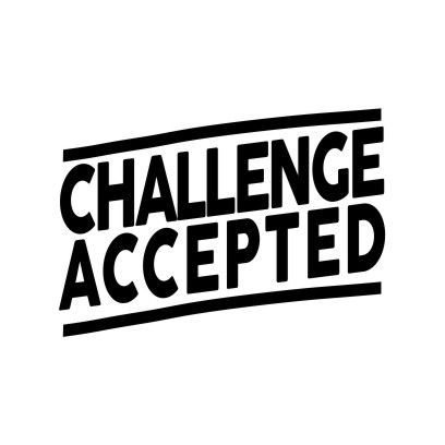 Challenge Accepted White