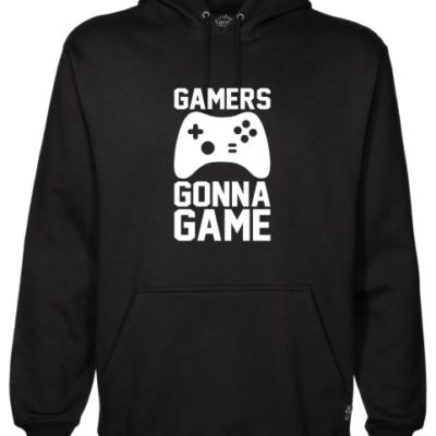 Gamers Gonna Game Black Hoodie