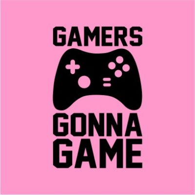 Gamers Gonna Game Light Pink