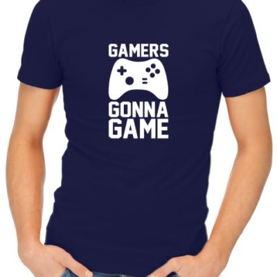 Gamers Gonna Game Mens Navy Shirt