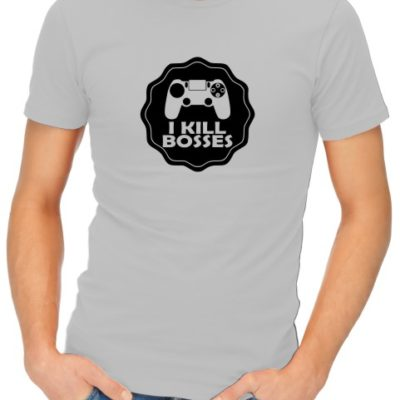 I Kill Bosses Mens Grey Shirt