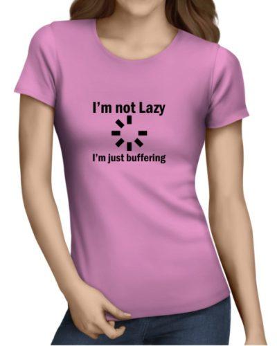 I_m Not Lazy Ladies Light Pink