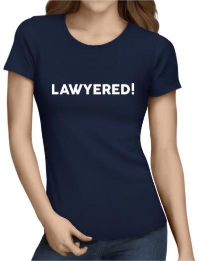 Lawyered Ladies Navy Shirt