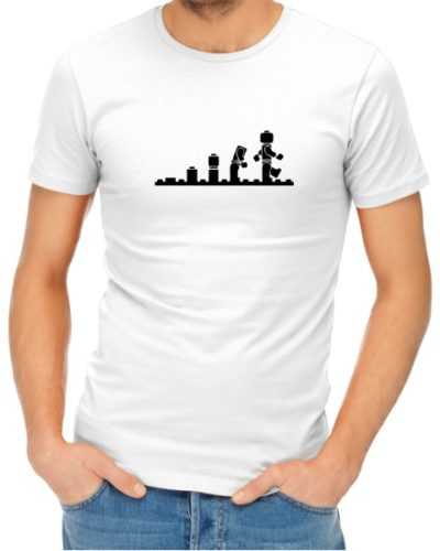 Lego Evolution Mens White Shirt