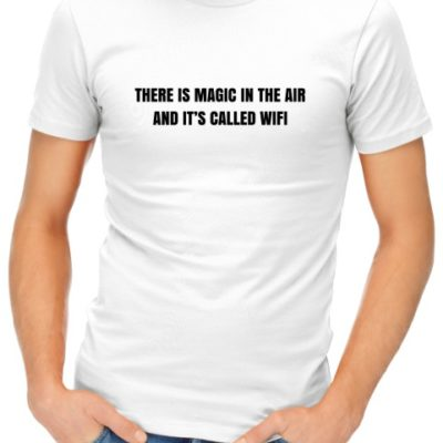 Magic In The Air Mens White Shirt