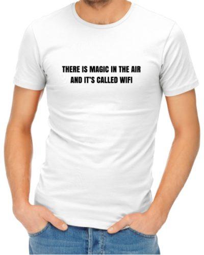 Magic In The Air Mens White Shirt