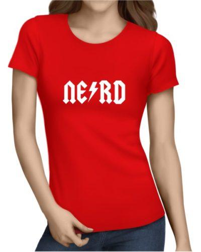 Nerd 1 Ladies Red Shirt