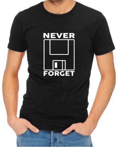 Never Forget 1 Mens Black Shirt