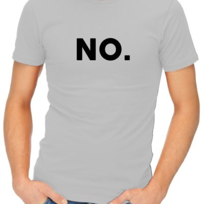 No Mens Grey Shirt