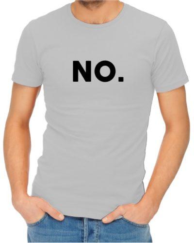 No Mens Grey Shirt