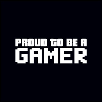 Proud To Be A Gamer Black