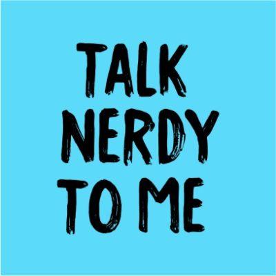 Talk Nerdy To Me Sky Blue