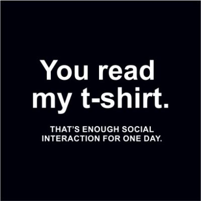 You Read My T-shirt Black