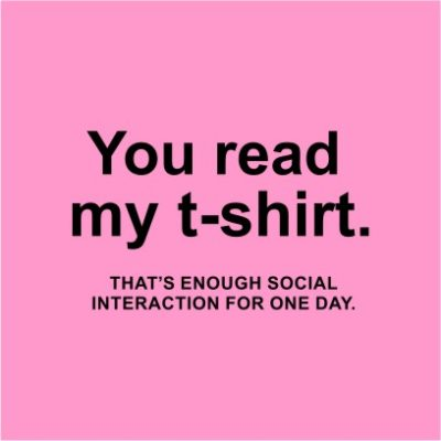 You Read My T-shirt Light Pink