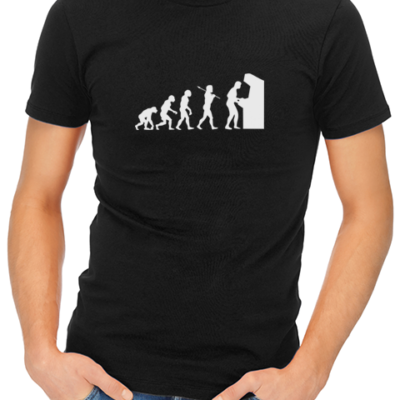 arcade evolution mens tshirt black