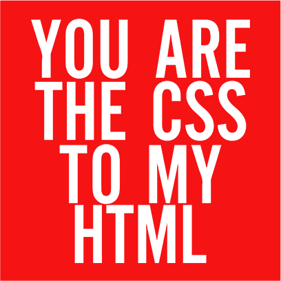 the css to my html red square