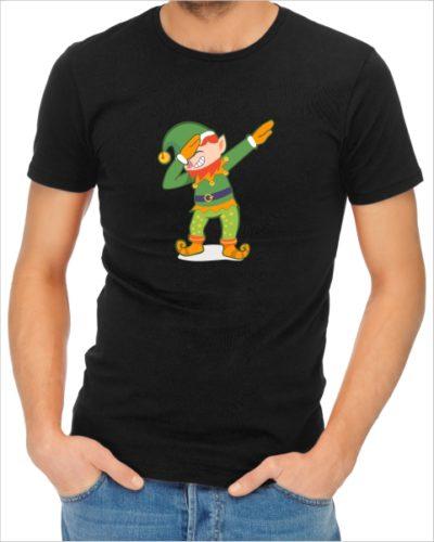 elf dab mens black tshirt