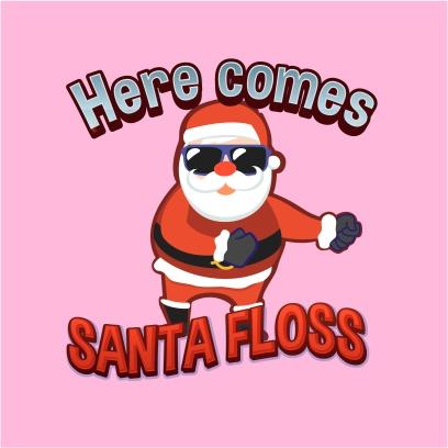 here comes santa floss light pink