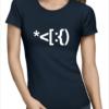 santa code ladies navy tshirt