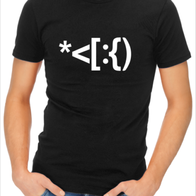 santa code mens black tshirt