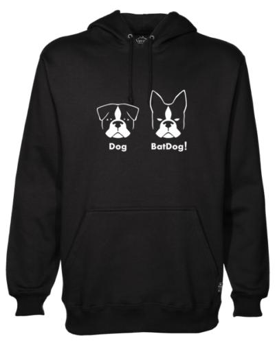BatDog Black Hoodie