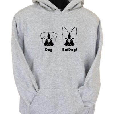BatDog Grey Hoodie