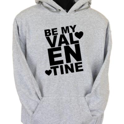 Be My Valentine Grey Hoodie