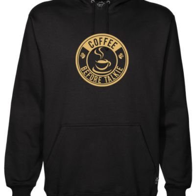 Coffee Before Talkie Black Hoodie