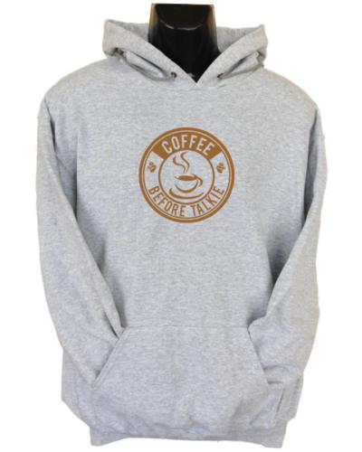 Coffee Before Talkie Grey Hoodie