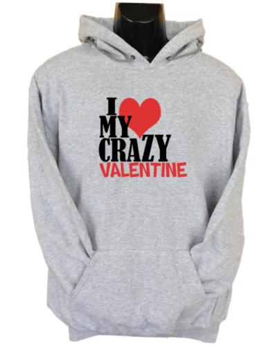 Crazy Valentine Grey Hoodie