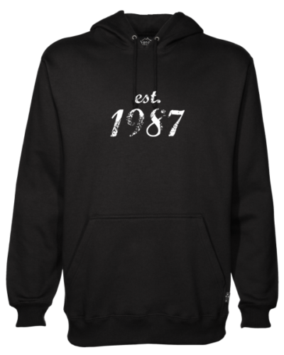 Established 1987 Black Hoodie