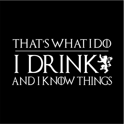 I drink and know things black square