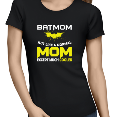 batmom ladies tshirt black