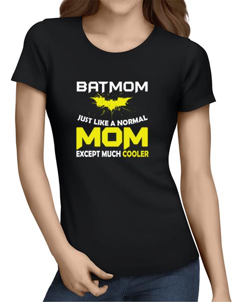 batmom ladies tshirt black