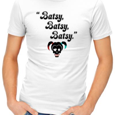 batsy mens tshirt white